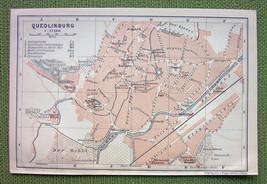 GERMANY Quedlinburg City Plan - 1904 MAP ORIGIN... - $4.63