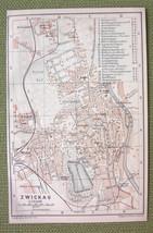 GERMANY Zwickau City Plan & Railroads - 1904 MA... - $4.63