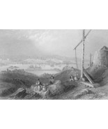 CANADA View of St. John  - BARTLETT Engraving A... - $11.78