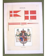 FLAGS DENMARK Coat of Arms Merchant Naval Marin... - $12.20