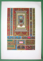 RACINET Ornaments from Hours of Aragon Manuscript - SUPERB Color Print - $16.79