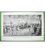 CAIRO Egypt Horse Carriage Promenade - VICTORIAN Era Original Engraving - $15.15