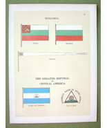 FLAGS Bulgaria & Central America Republic - 189... - $11.78