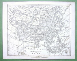 1844 MAP Original - Asia Russia Physical & Sea ... - $15.15