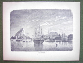 THE BERMUDAS Islands Sailship in Harbor - 1858 ... - $15.15