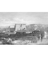 EGYPT Sphinx Philae Island Temples Thebes - 186... - $46.28