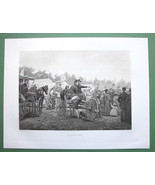 HORSE RACES in America Country Fair Coach - 1893 Victorian Era Antique P... - $26.93