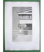 GREECE Athens Acropolis Erechtheion Ionic Order - SUPERB Antique Print E... - $43.56
