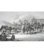 WESTERN AFRICA & Sahara Travelers Giraffe - 1860 SCARCE Print Multiple V... - $46.28