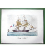 SHIPS Two Mast French Brig Solide - 1963 Fine Quality Color Print - $22.18