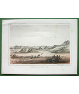 AMERICAN WEST Montana Approach to Cadotte's Pass - 1850s Tinted Litho Print - $13.46