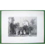 CONSTANTINOPLE Mosque of Sultan Osmanie - BARTLETT Antique Print - $20.20