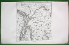 1859 ANTIQUE MAP - Germany Leipzig & Environs - $25.24