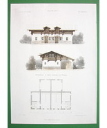 ARCHITECTURE COLOR PRINT : Potsdam Hunting Lodg... - $28.61