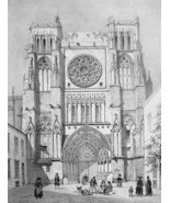 ARCHITECTURE PRINT : France Bordeaux Cathedral ... - $28.61