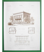 ARCHITECTURE PRINT : Germany Villa at Kreuznach... - $26.93