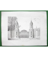 ARCHITECTURE PRINT : Paris Gate to Castle Bagat... - $28.61