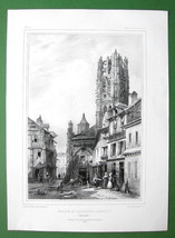 FRANCE Rouen St. Laurent Church in Normandy - L... - $8.41