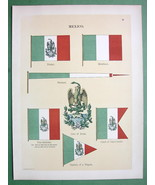 MEXICO Coat of Arms Naval Flags Frigate Captain... - $18.51