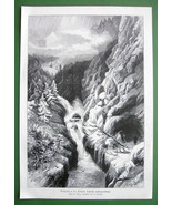 SWITZERLAND Alps Waterfall in Lukmanier Pass - ... - $15.15