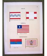 FLAGS JAPAN Liberia Montenegro Naval Marine - 1... - $12.20
