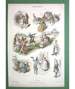 1894 Color Litho Print Dekorative Vorbilder Pri... - $16.82