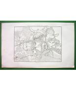 1859 ANTIQUE MAP - Russia Borodino & Environs +... - $20.20