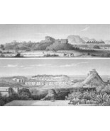 MEXICO Mayan Ruins at Uxmal Panoramic View - 18... - $46.28