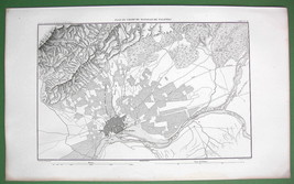 1859 ANTIQUE MAP - Spain Environs of Talavera - $25.24