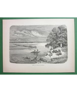 RIO COLORADO Ferry Mohave Indians American West - 1858 Antique Print - $10.10