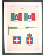 FLAGS ITALY Jack Coat of Arms Naval Marine - 18... - $12.20