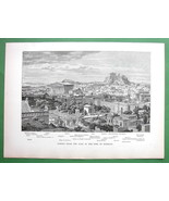 ATHENS Restored View Greece - 1882 Stunning Ant... - $42.04