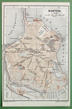 1891 MAP ORIGINAL Baedeker - ITALY Mantova Mant... - $4.20