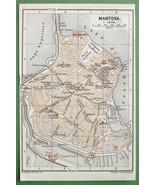 1891 MAP ORIGINAL Baedeker - ITALY Mantova Mant... - $4.20