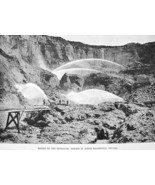 NEVADA Hydraulic Mining at N. Bloomfield California - Antique Print - $11.78