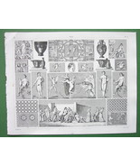 GREEK & Roman Paintings Mosaics  !! 1844 Antiqu... - $11.78