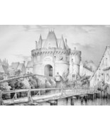 FRANCE View Town of Vendome Fortifications - SU... - $29.70