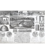 FARMING Horse Stable Plots - Antique Print - $12.61