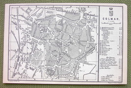 FRANCE ColmarTown Plan & Environs of Saverne - ... - $4.63