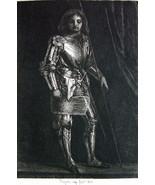 ORIGINAL ETCHING PRINT by Rajon - Knight in Armor - $20.20