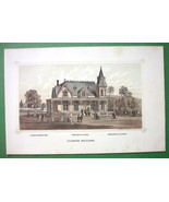 ILLINOIS Budiling at PHILADELPHIA EXPOSITION of 1876 - Antique Litho Print - $8.83