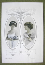 ACTRESS Kitty Mason & Nancy Moore - 1911 Offset... - $7.15