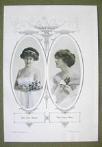 ACTRESS Kitty Mason & Nancy Moore - 1911 Offset Litho Print - $7.15
