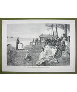 FINLAND People Praying on Sea Coast - VICTORIAN... - $20.20