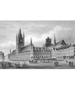 BELGIUM Ypres Cloth Hall & St. Peter Cathedral ... - $46.28