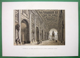 ROME Interior of CHurch St. John Lateran - 1890... - $23.56