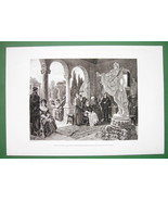 POPE JULIUS II Renaissnace Viewing Nude Statue ... - $21.00