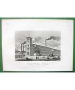 WORCESTER Massachusetts T.K. Earle Card Clothing Factory - 1876 Antique ... - $20.20
