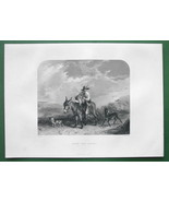 SCOTTISH BOY Hunter Riding Donkey !! Antique Pr... - $10.10