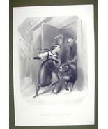 ST. BERNADINE Dog Alps Rescue Swiss Girl Winter - SUPERB Quality Print E... - $28.61